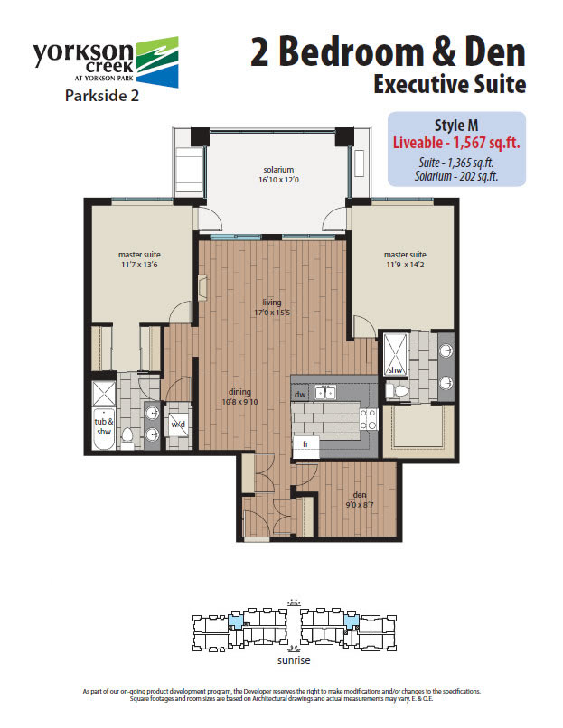 2 bedroom den yorkson creek
