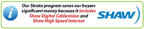 Shaw Digital Cablevison and Shaw High Speed Internet Included