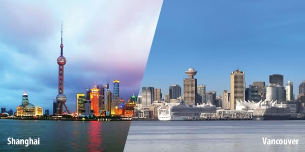 Shanghai and Vancouver